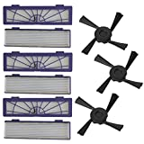 VITHCONL Vacuum Robot & Replacement Parts, 6PC Filter + 3PC Side Brushes Replacement Compatible with Neato Botvac 70e 75 80 85,Robot aspirador