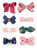 Belle Beau Baby Girls Hair Bows, Hair Clips, Ribbon Lined Alligator Hair Clips (Y)