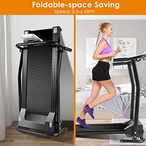 Mauccau Folding Treadmill for Home, Electric Treadmills with LCD Display Exercise Fitness Trainer Walking Running Machine 2
