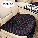 SEAMETAL Car Seat Covers Cushion Auto (Red, 1 Pair Set)
