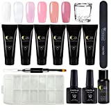 Coscelia Nail Enhancement Gel Kit Nail Extension Gel Trial Kit Poly Nail Gel Professional Nail Technician All-in-One French Kit