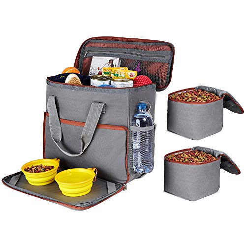 Dog Travel Bag - Dog Camping Supplies - Airline Approved Organizer for Pet Accessories Essentials Gear Food Puppy Diaper Grooming Kit - Dog Suitcase for Overnight & Week Long Trips