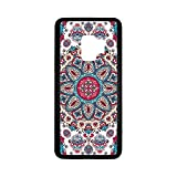 Ethnic Rubber Phone Case,Henna Style Floral Circles Paisley Retro Kaleidoscope Image Decorative Compatible with Samsung Galaxy S9,One Size