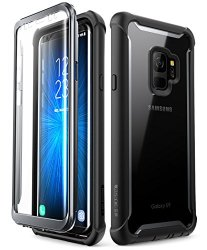 Samsung Galaxy S9 case, i-Blason [Ares] Full-body Rugged Clear Bumper Case with Built-in Screen Protector for Samsung Galaxy S9 2018 Release (Black)