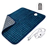 Veken XXL Electric Heating Pad with Fast-Heating Technology, Moist/Dry Heat, Auto Shut-Off and Machine Washable, 20' x 24' Ultra-Soft Heat Therapy Pad for Cramps/Back/Knee/Neck and Shoulders