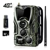 Suntekcam 4G LTE Cellular Trail Game Camera, 16MP 1080P Wildlife Hunting Camera (AT&T/Verizon Support), Micro SD Card and Card Reader Included, Night Vision IP65 Waterproof Cam