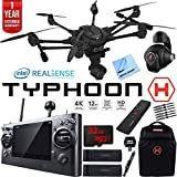 Beach Camera Yuneec Typhoon H RTF Drone with Intel RealSense Technology Ultimate Bundle - Backpack, 32GB Memory, 2 Batteries, Wand, One Year Warranty Extension and More