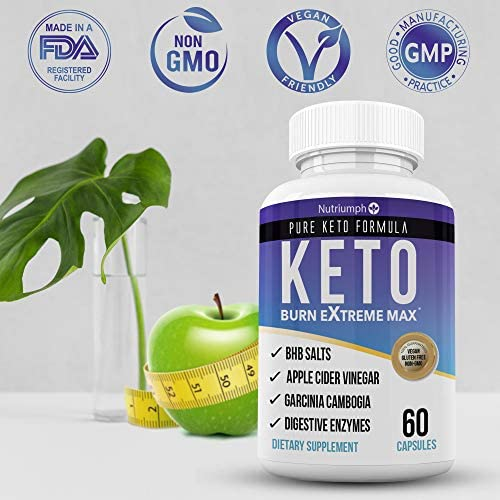 Keto Burn Extreme Max Fat Burner Diet Pills- Ketogenic Weight Loss for Women and Men- Ketosis Supplement with BHB Salts & Apple Cider Vinegar- 30 Day Supply 6