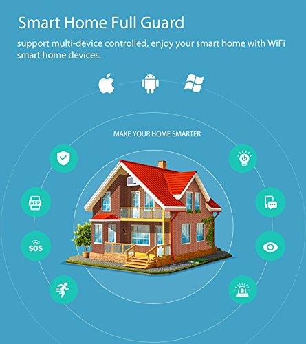 WiFi-Security-Alarm-System-DZX-WiFi-Home-Security-Door-Sensor-Alarm-System-with-Easy-App-Control-for-iOS-Android-Smartphone-with-Alexa-Echo-Google-Home-DoorWindow-Contact-Sensor-no-Hub-Need