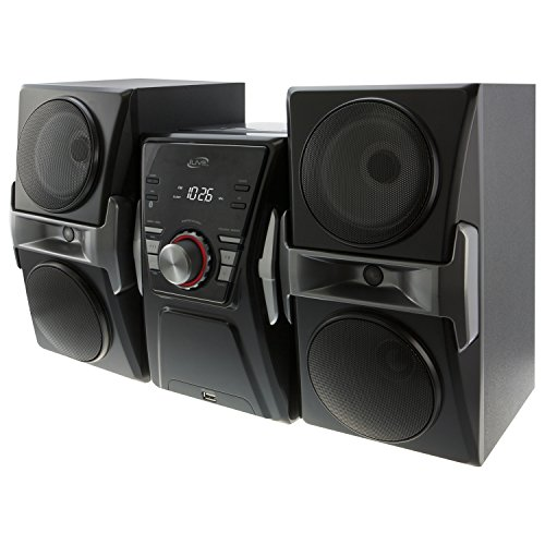 iLive IHB624B Bluetooth CD and Radio Home Music System with Color Changing Lights, Includes Remote, Black