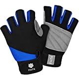 FitsT4 Unisex 3/4 Finger Surfing Gloves for Water Ski, Canoeing, Windsurfing, Kiteboarding, Sailing, Jet Skiing and Stand-UP Paddle Boarding Adjustable Wrist Cinch, Comfortable Fit