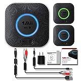 1Mii B06 Plus Receptor Bluetooth, Adaptador de Audio Hi-Fi, Receptor inalámbrico Bluetooth 4.2 con 3D Surround aptX baja latencia para sonido en Streaming. Chip avanzado CRS BT 4.2 de última generación
