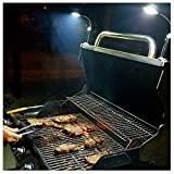Bright Eyes Magnetic Barbecue BBQ Light Set for Grilling- 6 Alkaline AAA Batteries Included. Works on All Grills with an Exception to Stainless Steel.