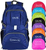 S & P Outdoor 35L Sport waterproof Lightweight Packable Durable folding International Travel Hiking Trekking Camping Cycling Foldable Ultralight and Handy Daypack Backpack for women and men