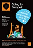 Orange Holiday Europe – Prepaid SIM card – 10GB Internet Data in 4G/LTE (data tethering allowed) + 120 mn + 1000 texts in 30 countries in Europe