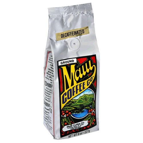 Maui Coffee Company Maui Blend Decaf (Ground), 7-Ounces (Pack of 3)