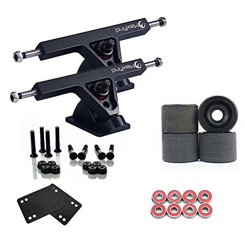 image Pack combo Longboard Maxfind Major Upgrade avec camion de 17,8 cm, roues de 80 à 70 mm, jeu complet de roulements et quincaillerie en acier