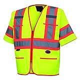 Pioneer V1023560U-M V1023560U Hi-Viz Polyester Sleeved Vests, 0.25' Height, 13.36' Width, 22.79' Length, Medium, Yellow/Green