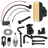 Harbot Air Filter+Fuel/Oil Line Filter+Spark Plug Gasket Ignition Coil Carburator Tune Up Kit for STIHL 021 023 025 MS210 MS230 MS250 Chainsaw