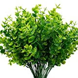 The Bloom Times Artificial Boxwood (Pack of 6), Artificial Greenery Stems Fake Outdoor Plants UV Resistant for Farmhouse Home Garden Wedding Patio Indoor Decor in Bulk Wholesale