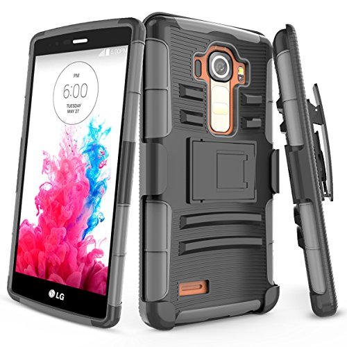 LG G4 Case,TILL [Knight Armor] Heavy Duty Full-Body Rugged Holster Resilient Armor Case [Belt Swivel Clip][Kickstand] Combo Cover Shell for LG G4 (5.5' inch) 2015 Release All Carriers [Grey]