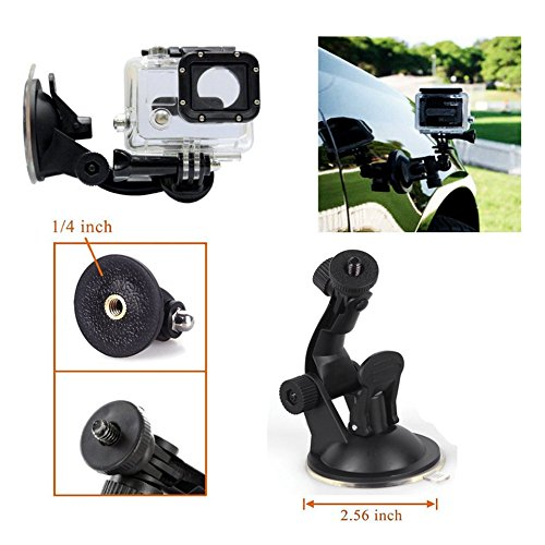 51F7uH Hl2L Yantralay 15 in 1 Gopro Accessories Kit for Hero 8 7 6 5 4 3+, Osmo Action, SJCAM SJ4000 SJ5000, Yi & Other Action Cameras (15 Items)