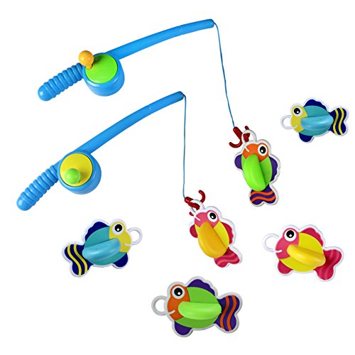 Yixin bath toy fishing game with floating fish enjoy for Fishing games for girls