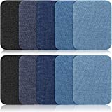 Iron On Patches - 10 Pcs Denim Patches for Clothing - 5 Colors - Easy to Apply - Practical & Versatile - Ideal for Repairing, Decorating, Reinforcing, Arts & Crafts (10 Patches Pack - Large Size)