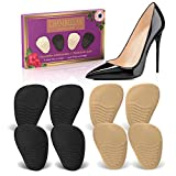 Heel Cushion Inserts (4 Pairs: 8 Pieces) - Shoe Inserts Women - High Heel Inserts for Women - Metatarsal Pads for Women - Ball of Foot Cushions for Pain Relief from Neuroma, Bunions, and Metatarsalgia