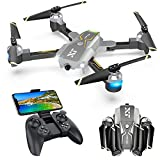 WiFi FPV Drone with Camera for Adults, Live Video 720P HD, RC Drones for Beginners Camera Drone with Optical Flow Positioning, Gravity Control, Voice Control, Trajectory Flight, Compatible with 3D VR