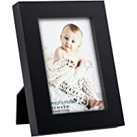 RPJC 3.5x5 inch Picture Frame Made of Solid Wood High Definition Glass for Table Top Display and Wall Mounting Photo Frame Black