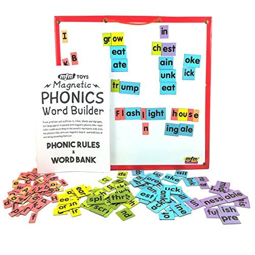 MFM TOYS Magnetic Phonic Word Builder Tiles (Understanding Pronunciation) Ages 6+ 170 Magnetic Tiles (Does Not Include Magnetic Board)