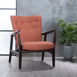 Christopher Knight Home Becker Fabric Arm Chair, Orange