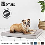 BarkBox Large Gray Ultra Plush Pressure-Relief Orthopedic Memory Foam Dog Bed or Crate Mat | Removable Washable Cover - Free Surprise!