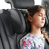 TEEPIRE Car Seat Headrest Pillow, Headrest for car, Head Neck Support Detachable,Premium seat held Pillow, 180 Degree Adjustable Both Sides Travel Sleeping Cushion for Kids Adults (Black)
