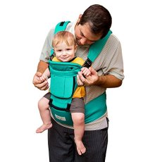 "BabySteps Ergonomic Baby Carrier with Hip Seat for All Seasons, 6 Comfortable & Safe Positions for Infant & Toddlers, 47.2"" Maximum Adjustable Waistband Maximum, Perfect for Alone Nursing and Hiking"