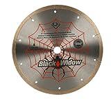 QEP 6-8008BW 8-Inch Black Widow Micro-Segmented Rim Diamond Blade, 5/8-Inch Arbor, Wet Cutting, 7640 Maximum RPM