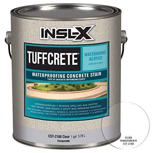 INSL-X CST292209A-01 TuffCrete Waterborne Acrylic Concrete Stain Paint, 1 Gallon, Desert Sand