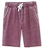 HETHCODE Men's Casual Classic Fit Cotton Elastic Fleece Jogger Gym Shorts Burnout Wine S