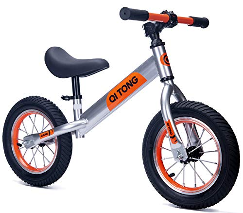 Gostorechoice Kids Balance Bike No Pedal Learn to Ride Pre Bike Adjustable Height Age 2-6 Years (Orange)