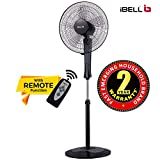 iBELL WINDP10 Pedestal Fan 5 Leaf with Remote and High Air Flow,406mm, 55W 100% Copper & Timer Function