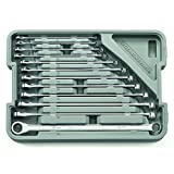 GEARWRENCH 12 Pc. 12 Point XL GearBox Double Box Ratcheting Metric Wrench Set - 85988