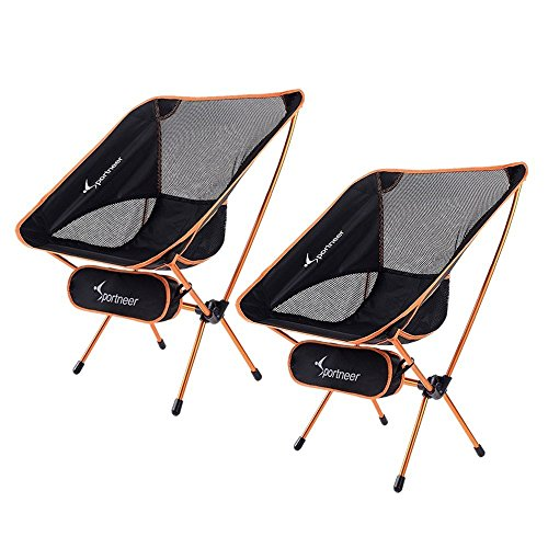 Sportneer Portable Lightweight Folding Camping Chair, 2-Pack for Backpacking, Hiking, Picnic