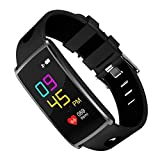 Fitness Tracker DG2CHU Color Screen Activity Tracker Fitness Watch with Heart Rate Monitor Swimming Waterproof Bluetooth Wireless Smart Bracelet for IOS & Android(Black)