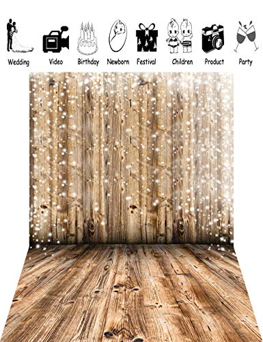 5x7ft Photo Backdrop Newborn Photography Backgrounds Wooden Wall and Floor Backdrop XT-2661