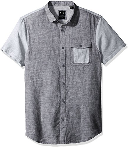 51FUWm8C IL Short sleeve woven over micro print