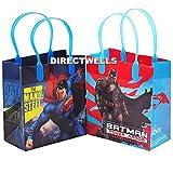 12 pcs Batman vs Superman Dawn Justice Authentic Licensed Reusable Small Party Favor Goodie Gift Bags