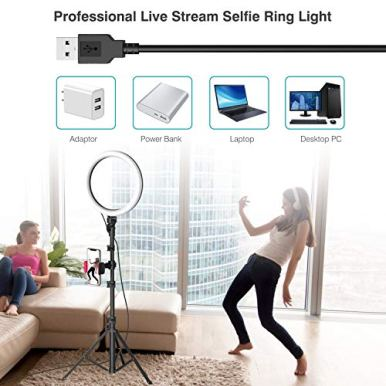 10-Selfie-Ring-Light-with-Tripod-Stand-Phone-Holder-for-Live-StreamMakeup-Dimmable-Led-Camera-Beauty-Ringlight-for-YouTube-TikTokPhotography-Compatible-for-iPhone-and-Android-PhoneUpgraded