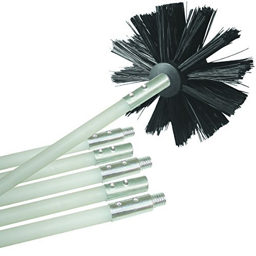 Flexible Dryer Vent Cleaning Kit, Lint Remover, Extends up to 12 Feet, Synthetic Clean Brush Head, Use With or Without a Power Drill