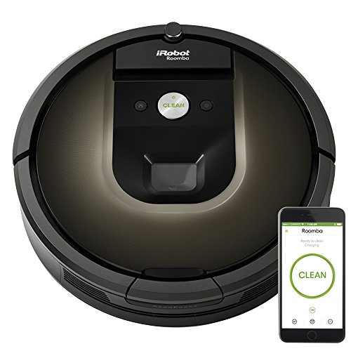 iRobot Roomba 980 Robot Vacuum with Wi-Fi Connectivity, Works with Alexa, Ideal for Pet Hair, Carpets, Hard Floors